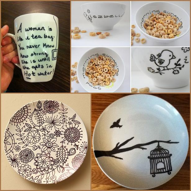 Роспись керамики маркерами