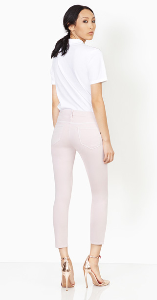 Genetic Denim Brooke mid pant in Petal