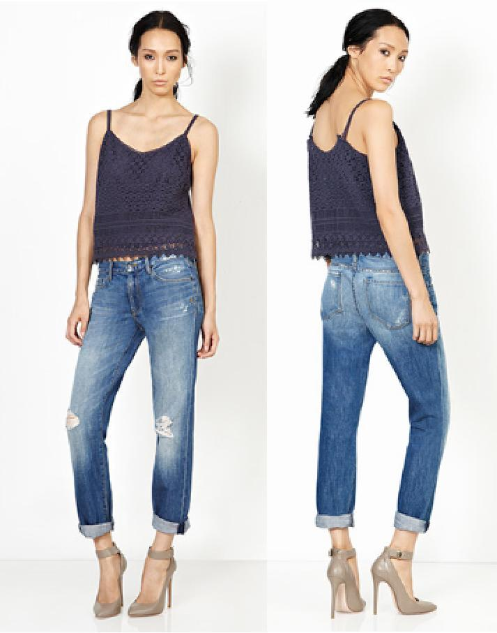 Alexa skinny straight crop by Genetic Denim available at Sachi