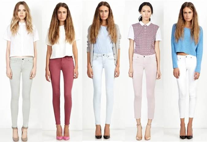 Genetic Denim pastels available at Sachi: Thistle (pale green); Petal (pale pink); White; Earth (grey-taupe)