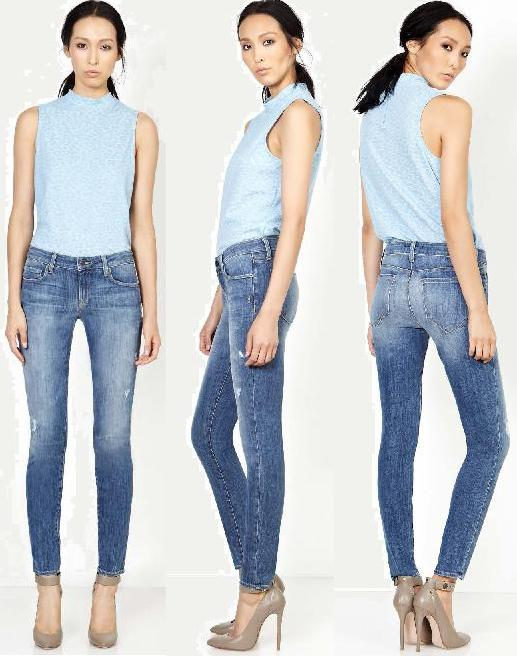 Genetic Denim Stem (mid-rise skinny) in Slash wash