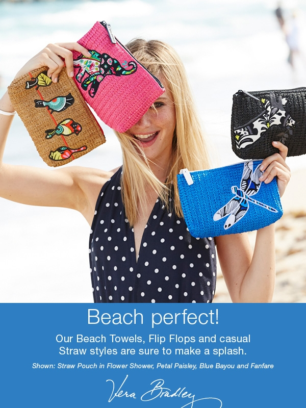 New Beach has arrived: flip flops, towels, cosmetic bags and more