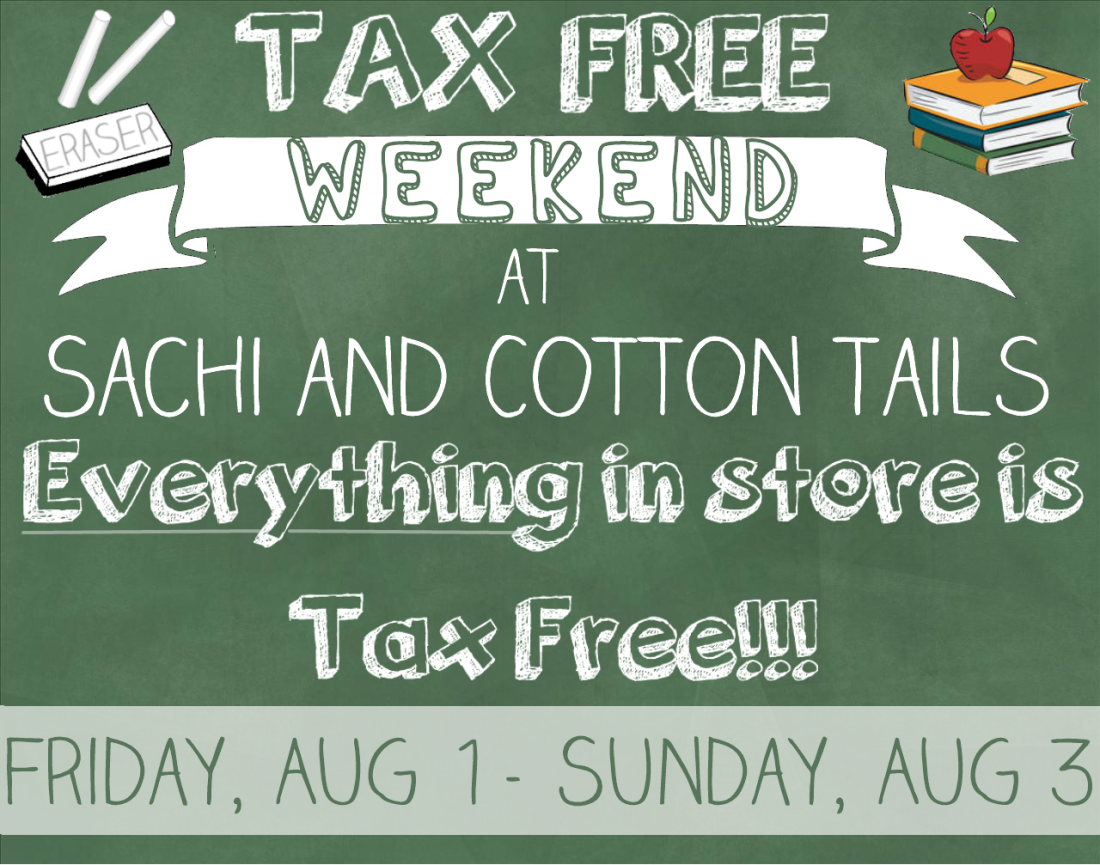 Tax Free Weekend Chalk Sign
