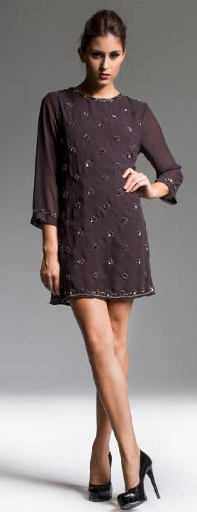 Mink Daisy Sequin Dress