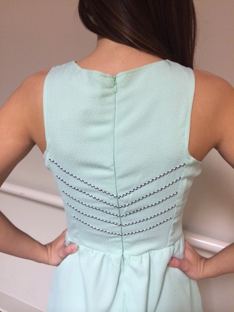 mint dress back detail
