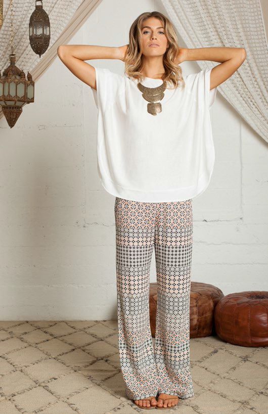 Mosaic peach trouser