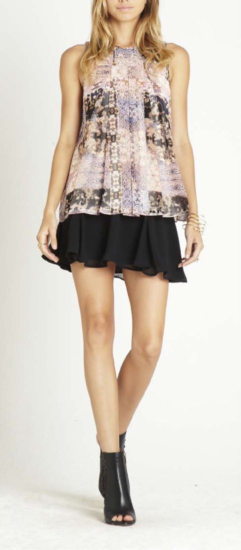 Print Pleated Top