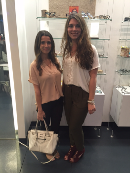 Aga and Amanda from Sachi attending the event. On Aga: Jade top, 7FAM pants, Botkier handbag. On Amanda: Zoa top, Grace George necklace, and Splendid pant. Items listed available at Sachi.