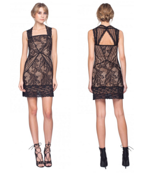 Era Lace Dress in Black