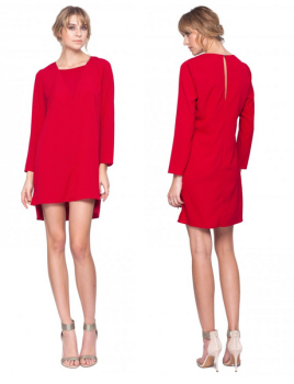 Rosalyn Dress in Crimson