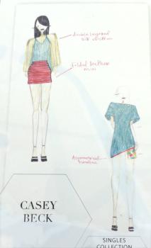 Casey Beck's design sketch.