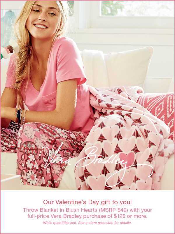 We have plenty of pretty in pink Vera Bradley for Valentine's Day gifts!